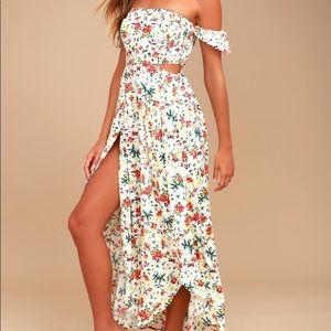 Lucca off shoulder tulip dress